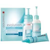 Zestaw do trwałej, włosy farbowane lub pasemka do 50%, Goldwell Evolution, typ 2 - uszkodzone pudełko