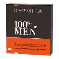 Dermika 100% for MEN 40+, zestaw prezentowy, krem 50ml + balsam po goleniu 40ml