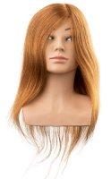 Efalock, główka treningowa Lotta, włosy ludzkie, brązowe, 40cm