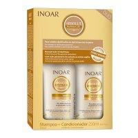 INOAR Absolut Daymoist CLR DUO PACK, szampon + odżywka nawilżające, 2x250ml