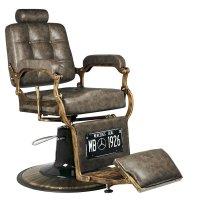 Fotel barberski Gabbiano Boss, old leather ciemny brąz