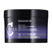 Tigi Catwalk Fashionista Violet, fioletowa maska do włosów blond i z pasemkami, 200ml