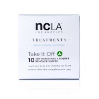 NCLA Take it off, sojowy zmywacz do paznokci w chusteczkach, 10 szt.