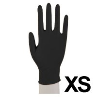 Abena, rękawiczki nitrylowe bezpudrowe, rozmiar XS, czarne, 200 sztuk