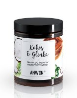 Anwen, maska do włosów o niskiej porowatości, Kokos i glinka, 180ml
