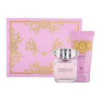 Versace Bright Crystal, zestaw perfum edt 30ml + 50ml balsam do ciała (W)