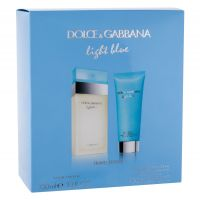 Dolce&Gabbana Light Blue, zestaw: Edt 100 ml + Krem do ciała 100 ml (W)