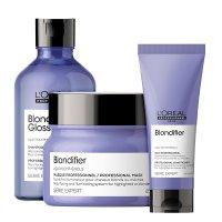 Loreal Blondifier Gloss, zestaw do włosów blond, 300ml + 200ml + 250ml