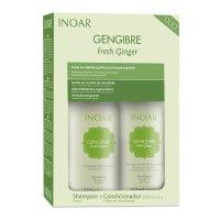 INOAR Ginger DUO PACK, szampon + odżywka do włosów przetłuszczających się, 2x250ml