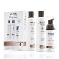 Nioxin System 4, zestaw przeciw wypadaniu, włosy widocznie przerzedzone, po zabiegach, cienkie