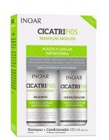 INOAR CicatriFios DUO PACK, szampon + odżywka do włosów zniszczonych, 2x250ml