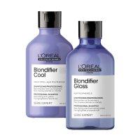Loreal Blondifier, zestaw szamponów do włosów blond, 2x300ml