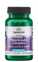 Swanson, triple magnesium complex, 30 kapsułek