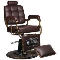 Fotel barberski Gabbiano Boss, brązowy