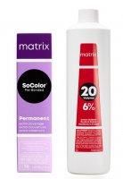 Matrix SoColor Extra Coverage Pre-Bonded, zestaw do koloryzacji: farba + oxydant