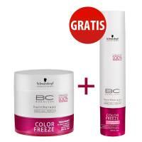 Schwarzkopf BC Color Freeze, szampon + maska do włosów farbowanych, 2 za 1
