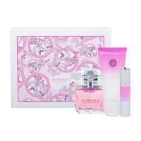 Versace Bright Crystal, zestaw perfum edt 90ml + 100ml balsam do ciała + 10ml edt (W)
