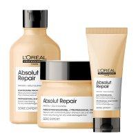 Loreal Absolut Repair, zestaw do włosów zniszczonych, 300ml + 200ml + 250ml