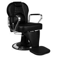 Fotel barberski Gabbiano Tiziano, czarny