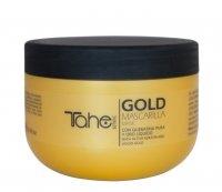 Tahe Botanic Gold Finishing, maska z aktywną keratyną i płynnym złotem, 300ml