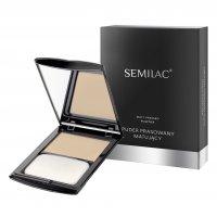 Semilac Makeup, puder prasowany matujący, 5g