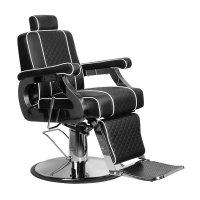 Fotel barberski Gabbiano Paulo, czarny