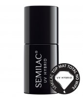 Semilac Top Mat Total No Wipe, matowy top coat, 7ml