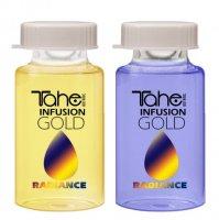 Tahe Botanic Gold Finishing, regenerująca kuracja do włosów blond, system A+B, 2 x 10ml