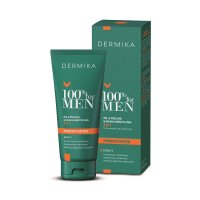 Dermika 100% For Men, żel & peeling & maska mentolowa 3w1, 100ml
