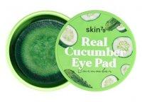 SKIN79 Real Cucumber Eye Pad, ogórkowe płatki nawilżająco-kojące na oczy, 30szt.