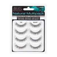 Ardell Natural Multipack, #110 Black, rzęsy na pasku, 4 pary, ref. 61407