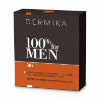 Dermika, zestaw 100% for Men 30+, krem 50ml + balsam po goleniu 40ml