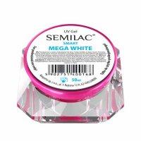 Żel do paznokci, Mega White Semilac UV Gel Smart, 50ml - połamana zakrętka, króka data ważności (10.2019)