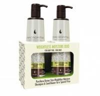 Macadamia Weightless Moisture, szampon + odżywka do włosów cienkich, 2x500ml