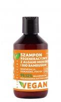 Bioelixire Vegan, szampon regeneracyjny z bio bambusem i algami morskimi, 300ml