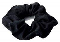 Anwen Scrunchie, bawełniana gumka do włosów, czarna