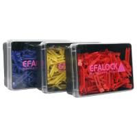 Efalock klipsy plastikowe, 100szt