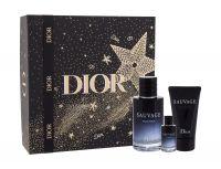 Christian Dior Sauvage, zestaw: Edp 100 ml + Edp 10 ml + Balsam po goleniu 50 ml (M)