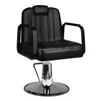 Fotel barberski Gabbiano Ugo, czarny