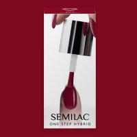 Semilac One Step Hybrid, lakier hybrydowy, 5ml, S575 Dark Red