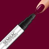 Semilac One Step Hybrid, lakier hybrydowy w markerze, 3ml, S580 Crimson