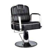 Fotel barberski Gabbiano Matteo, czarny