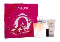 Lancôme La Vie Est Belle, zestaw: Edp 50 ml + Pomadka L´Absolu Rouge 1,6 g 132 Caprice Cream + Mleczko do ciała 50 ml (W)