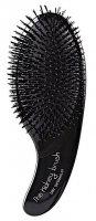 Szczotka do rozczesywania włosów suchych Olivia Garden Kidney, czarna - brak oryginalnego opakowania