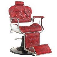Fotel barberski Gabbiano Premier, czerwony