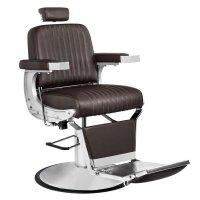 Fotel barberski Gabbiano Continental, brązowy