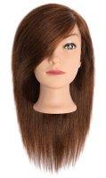 Efalock, główka treningowa Emilia, włosy ludzkie, brązowe, 35cm