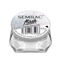 Semilac Flash Holo, pyłek do paznokci, 690 Holo Silver, 0,2g