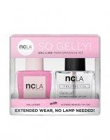 NCLA So Gelly!, zestaw lakier+top do paznokci, Totally Valley Girl, 2x15ml