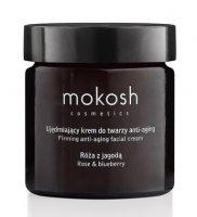 Mokosh, ujędrniający krem do twarzy anti-agin, róża z jagodą, 60ml